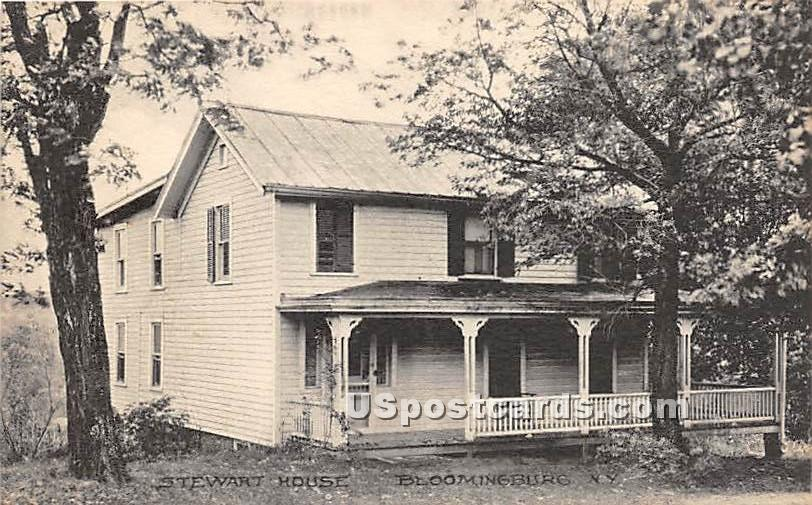 Stewart House - Bloomingburg, New York NY Postcard