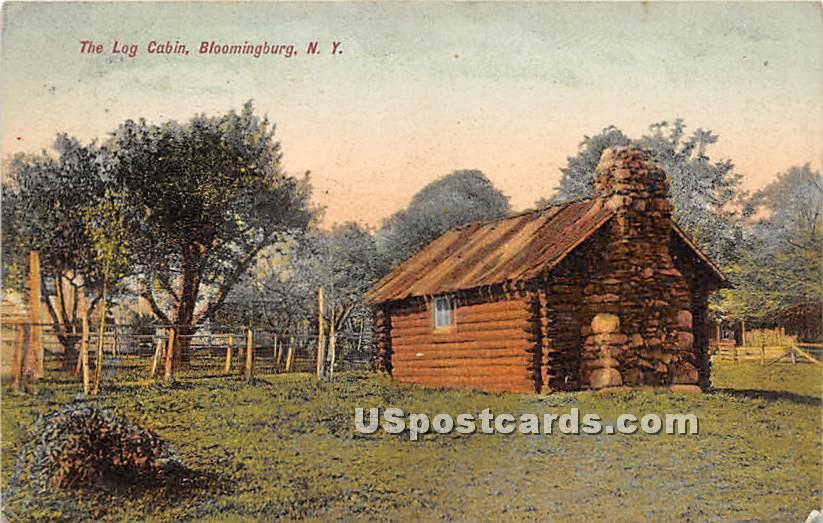 The Log Cabin - Bloomingburg, New York NY Postcard