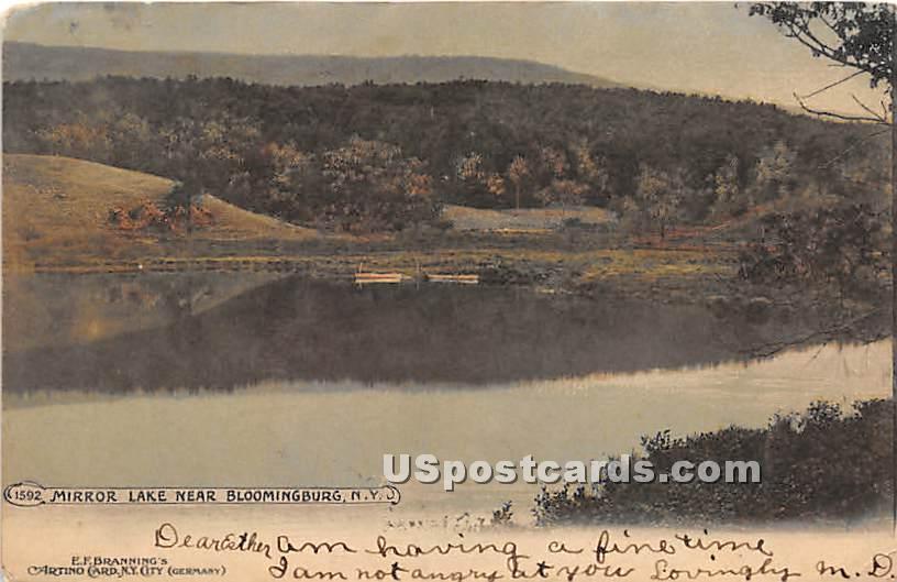 Mirror Lake - Bloomingburg, New York NY Postcard