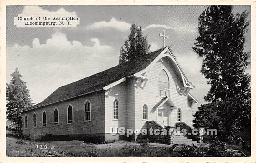 Church of the Assumption - Bloomingburg, New York NY Postcard