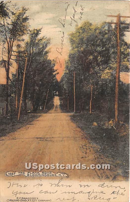 Plank Road - Bloomingburg, New York NY Postcard