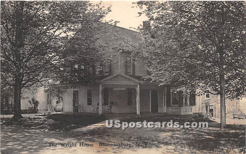 Wright House - Bloomingburg, New York NY Postcard