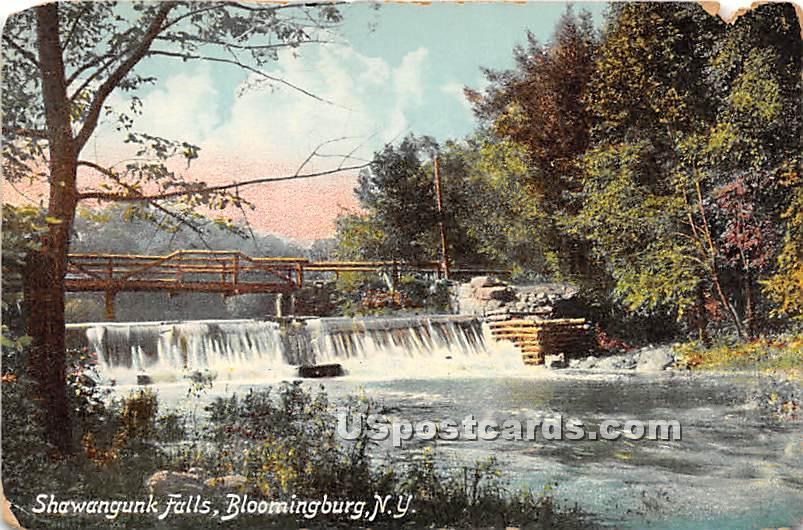 Shawangunk Falls - Bloomingburg, New York NY Postcard