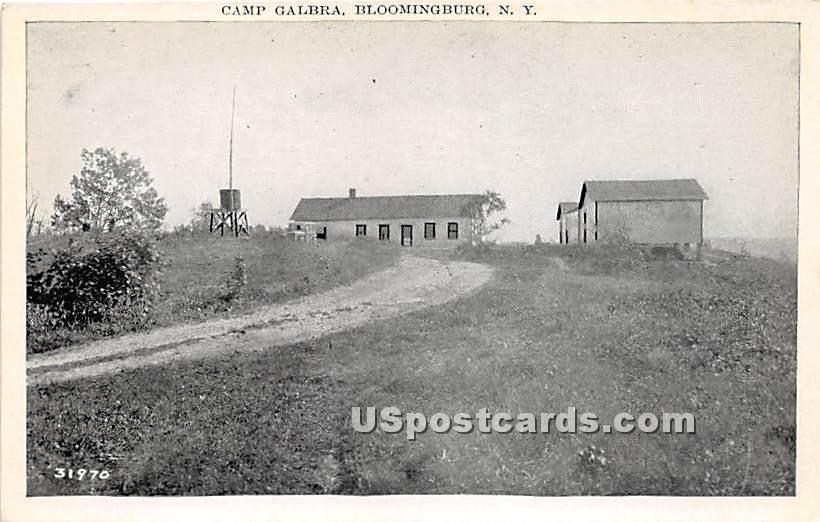 Camp Galbra - Bloomingburg, New York NY Postcard