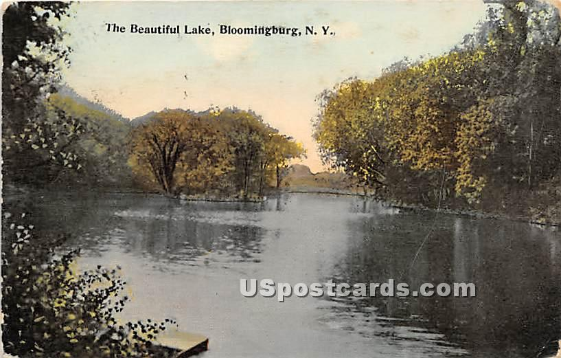 Beautiful Lake - Bloomingburg, New York NY Postcard