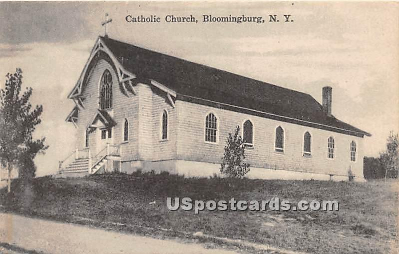 Catholic Church - Bloomingburg, New York NY Postcard