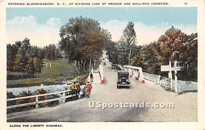 Dividing Line - Bloomingburg, New York NY Postcard