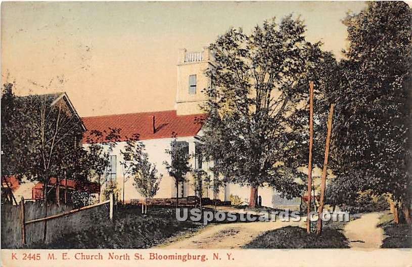 M E Church - Bloomingburg, New York NY Postcard