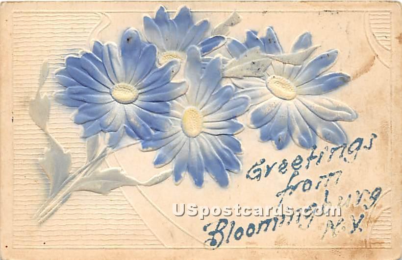 Greetings from - Bloomingburg, New York NY Postcard