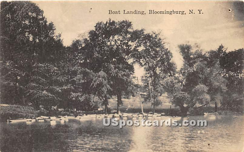 Boat Landing - Bloomingburg, New York NY Postcard