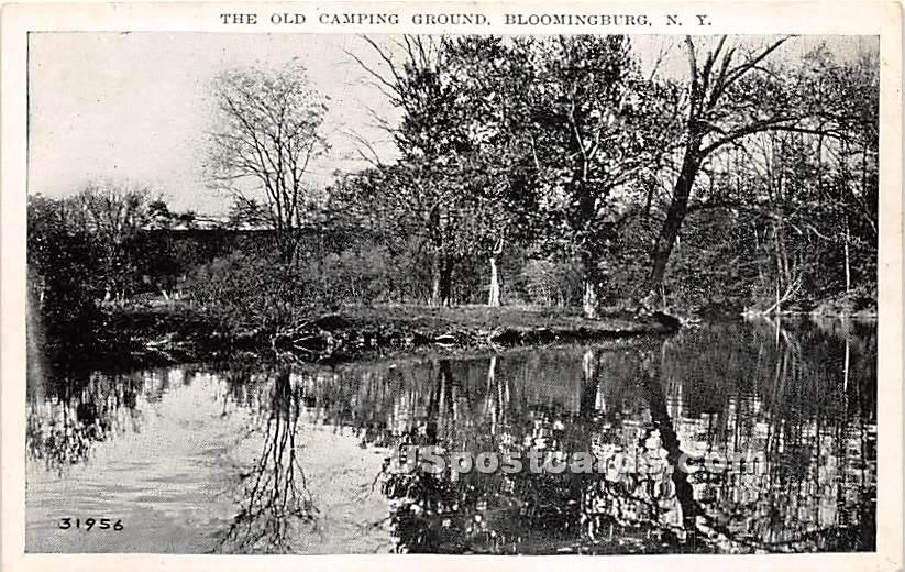 The Old Camping Ground - Bloomingburg, New York NY Postcard