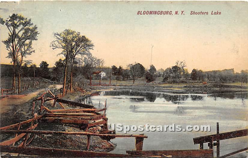 Shooters Lake - Bloomingburg, New York NY Postcard