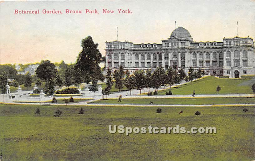Botanical Garden - Bronx Park, New York NY Postcard