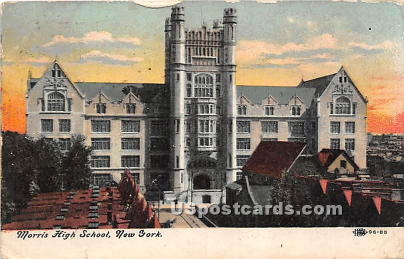Morris High School - Bronx, New York NY Postcard