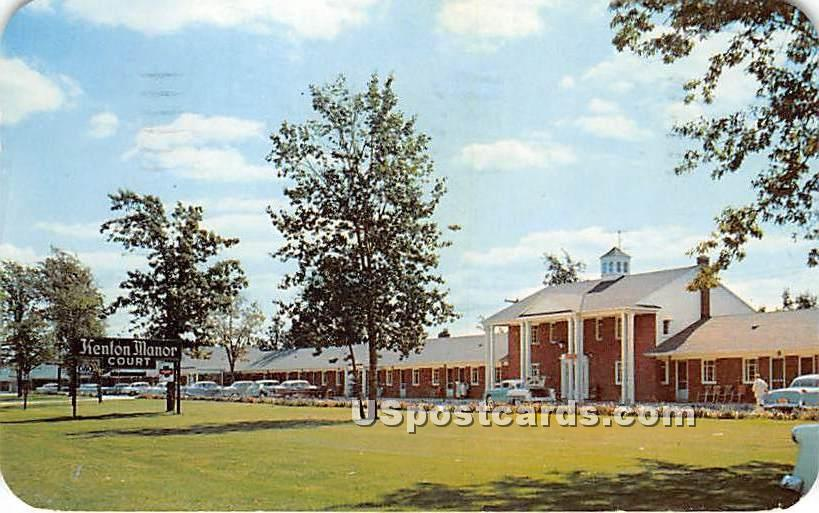 Kenton Manor Court - Buffalo, New York NY Postcard