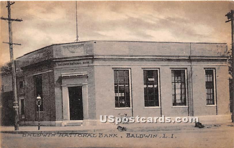 Baldwin National Bank - New York NY Postcard