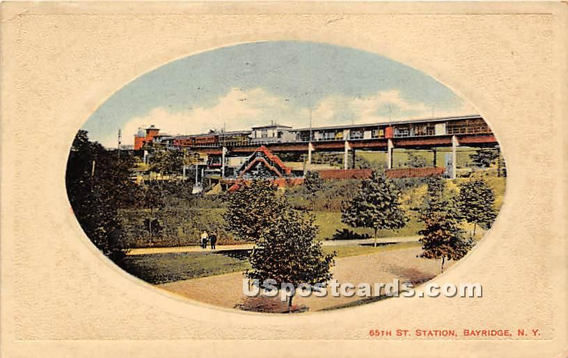 65th St Station - Bayridge, New York NY Postcard