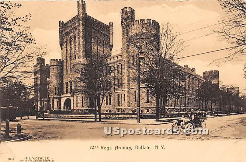 74th Regt Armory - Buffalo, New York NY Postcard