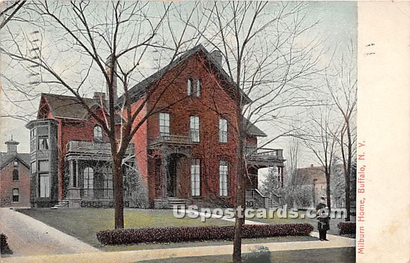 Milburn Home - Buffalo, New York NY Postcard