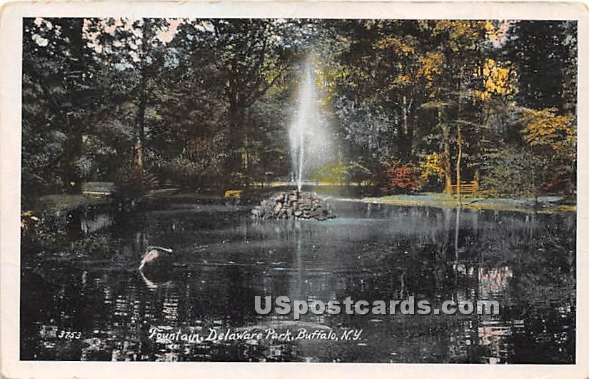 Fountain, Delaware Park - Buffalo, New York NY Postcard