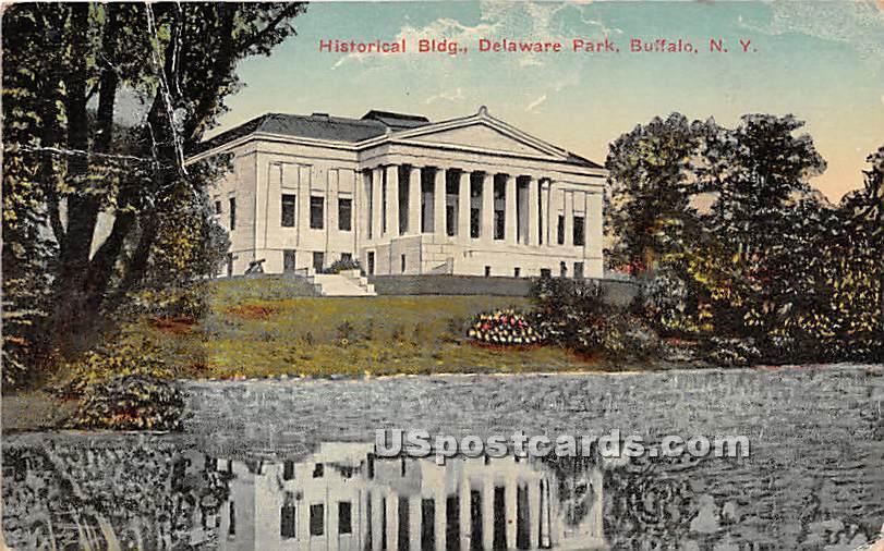 Historical Building, Delaware Park - Buffalo, New York NY Postcard