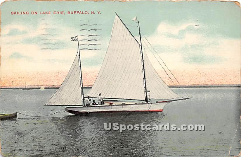 Sailing on Lake Erie - Buffalo, New York NY Postcard