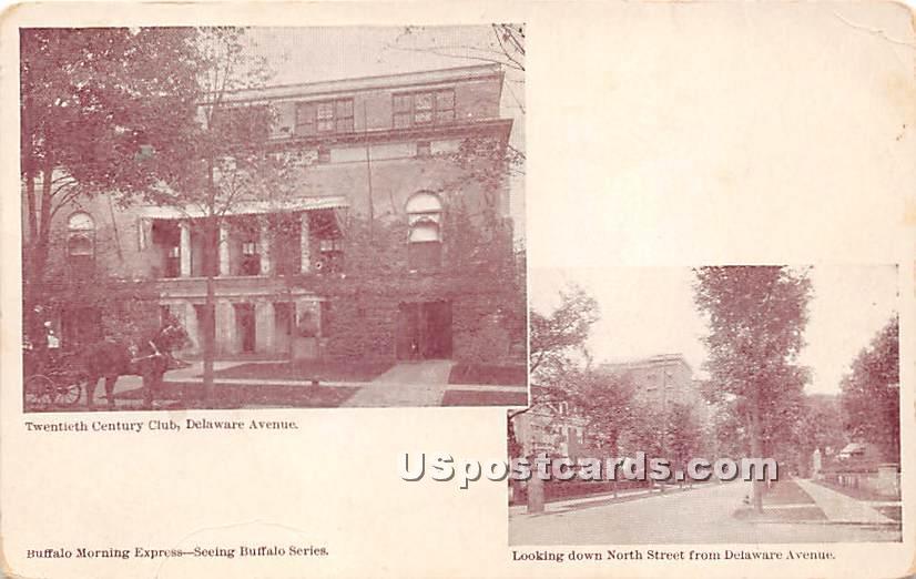Twentieth Century Club, Delaware Avenue - Buffalo, New York NY Postcard