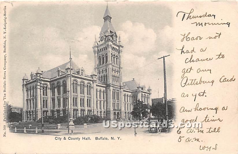 City & County Hall - Buffalo, New York NY Postcard