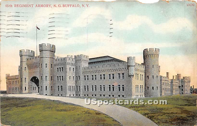 65th Regiment Armory - Buffalo, New York NY Postcard