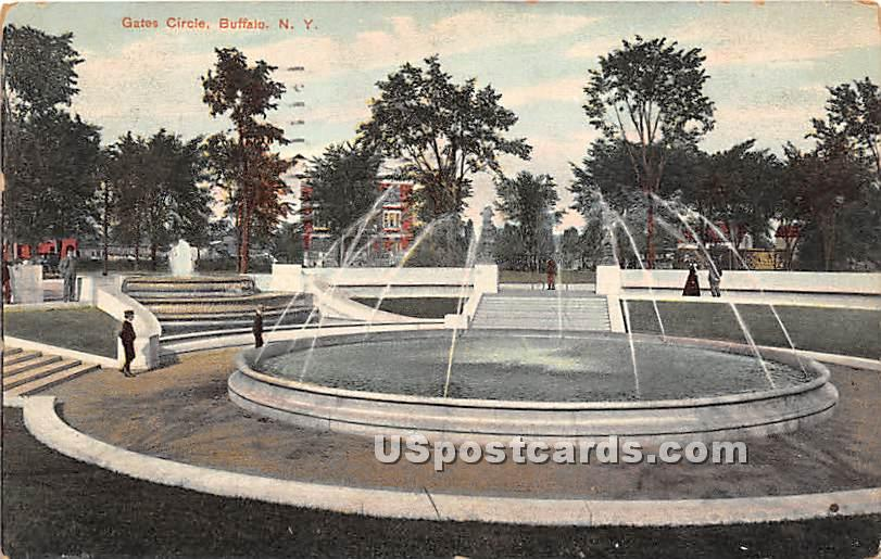 Gates Circle - Buffalo, New York NY Postcard