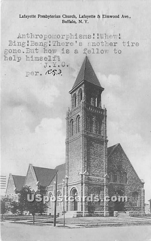 Lafayette Presbyterian Church - Buffalo, New York NY Postcard