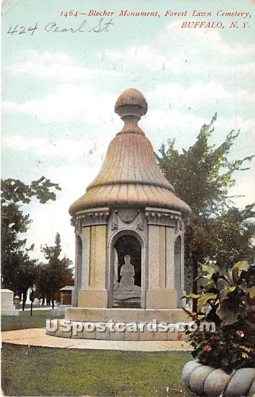 Blocher Monument, Forest Lawn Cemetery - Buffalo, New York NY Postcard