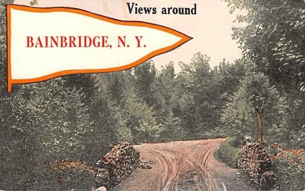 Views Around Bainbridge, New York Postcard