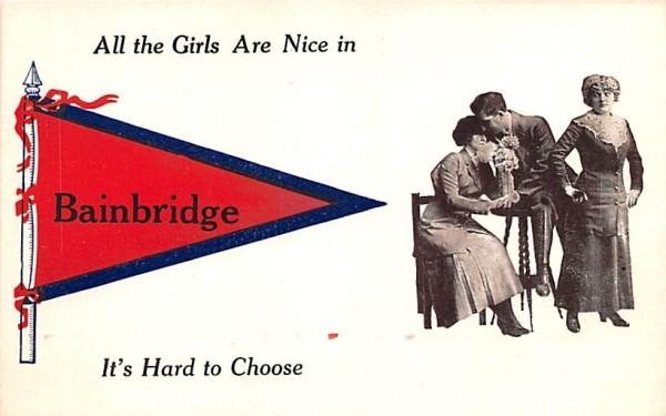 All the Girls are nice Bainbridge, New York Postcard