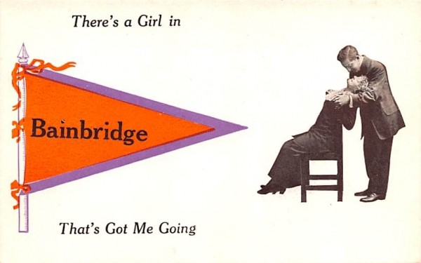 There's a Girl Bainbridge, New York Postcard