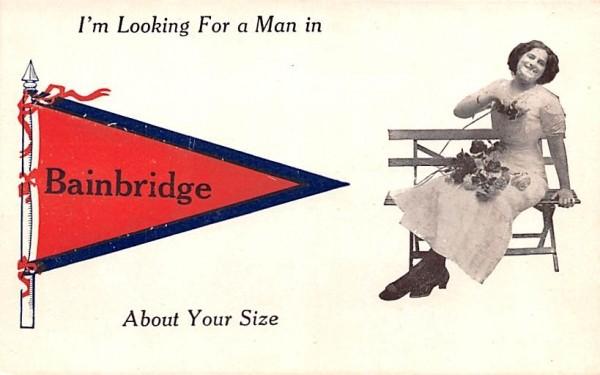 I'm Looking For a Man Bainbridge, New York Postcard