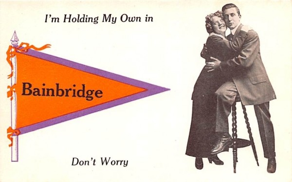 I'm Holding My Own Bainbridge, New York Postcard
