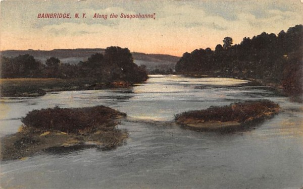 Along the Susquehanna Bainbridge, New York Postcard