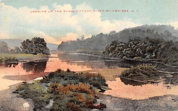 Susquehanna River Bainbridge, New York Postcard