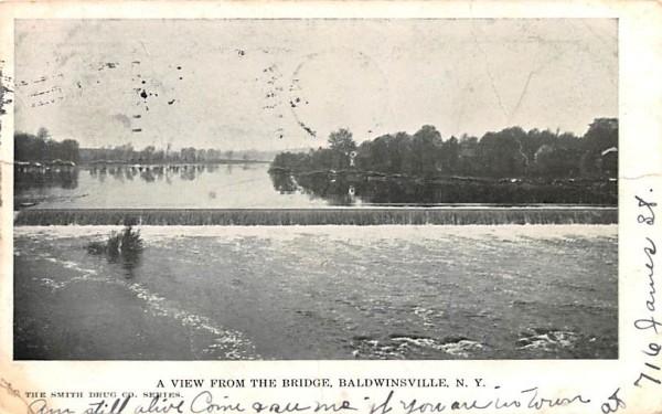 View from the Bridge Baldwinsville, New York Postcard