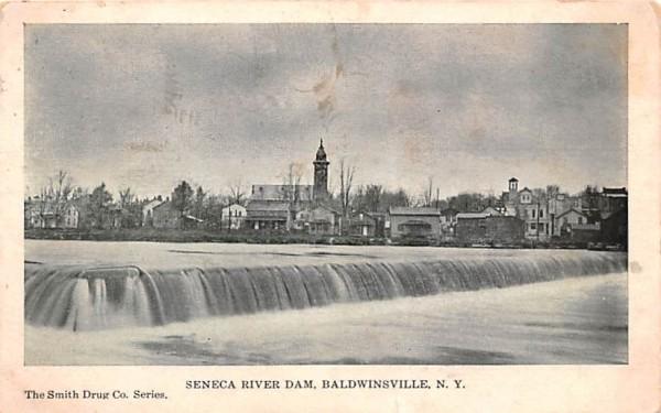 Seneca River Dam Baldwinsville, New York Postcard