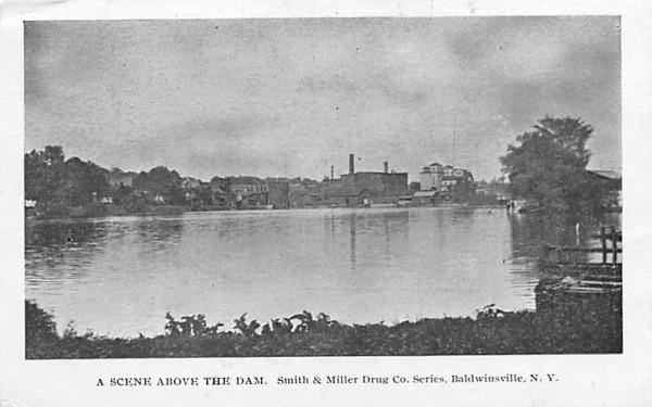 Above the Dam Baldwinsville, New York Postcard