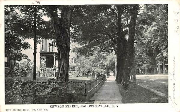 Oswego Street Baldwinsville, New York Postcard
