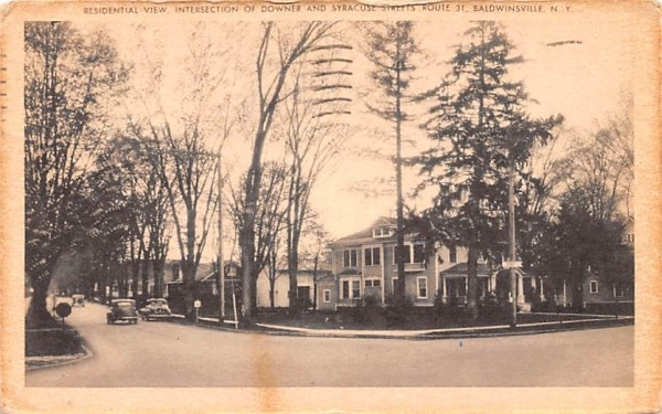 Residential View Baldwinsville, New York Postcard