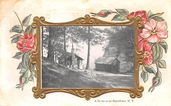 A Scene near Barcelona New York Postcard