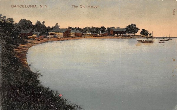 The Old Harbor Barcelona, New York Postcard