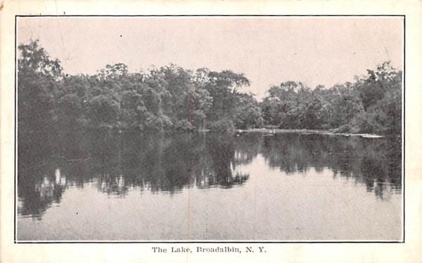 The Lake Broadalbin, New York Postcard