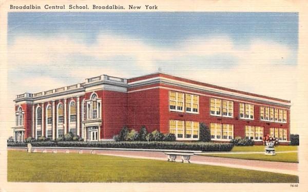 Broadalbin Central School New York Postcard