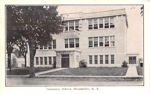 Grammar School Broadalbin, New York Postcard