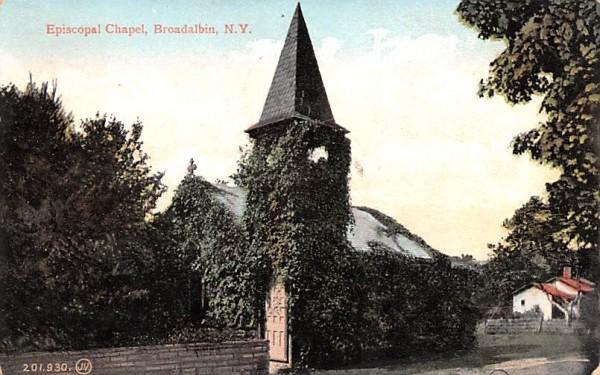 Episcopal Church Broadalbin, New York Postcard